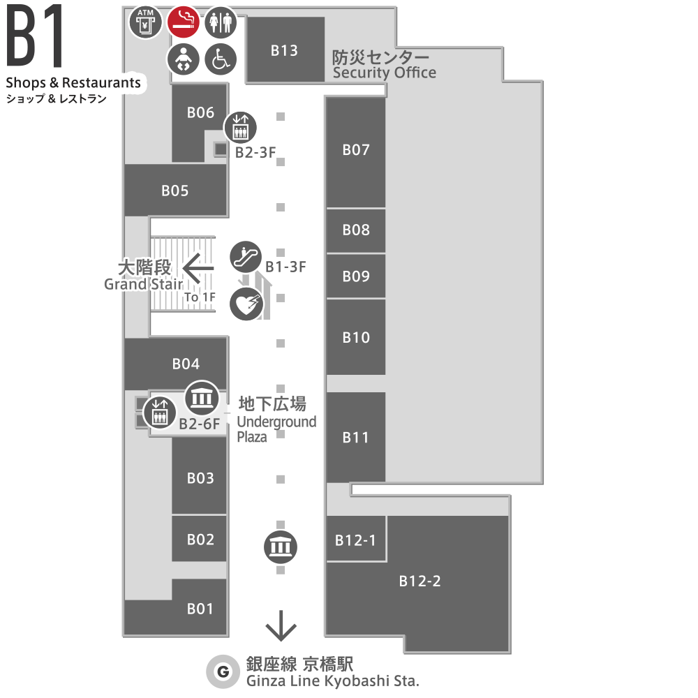 喫煙室MAP