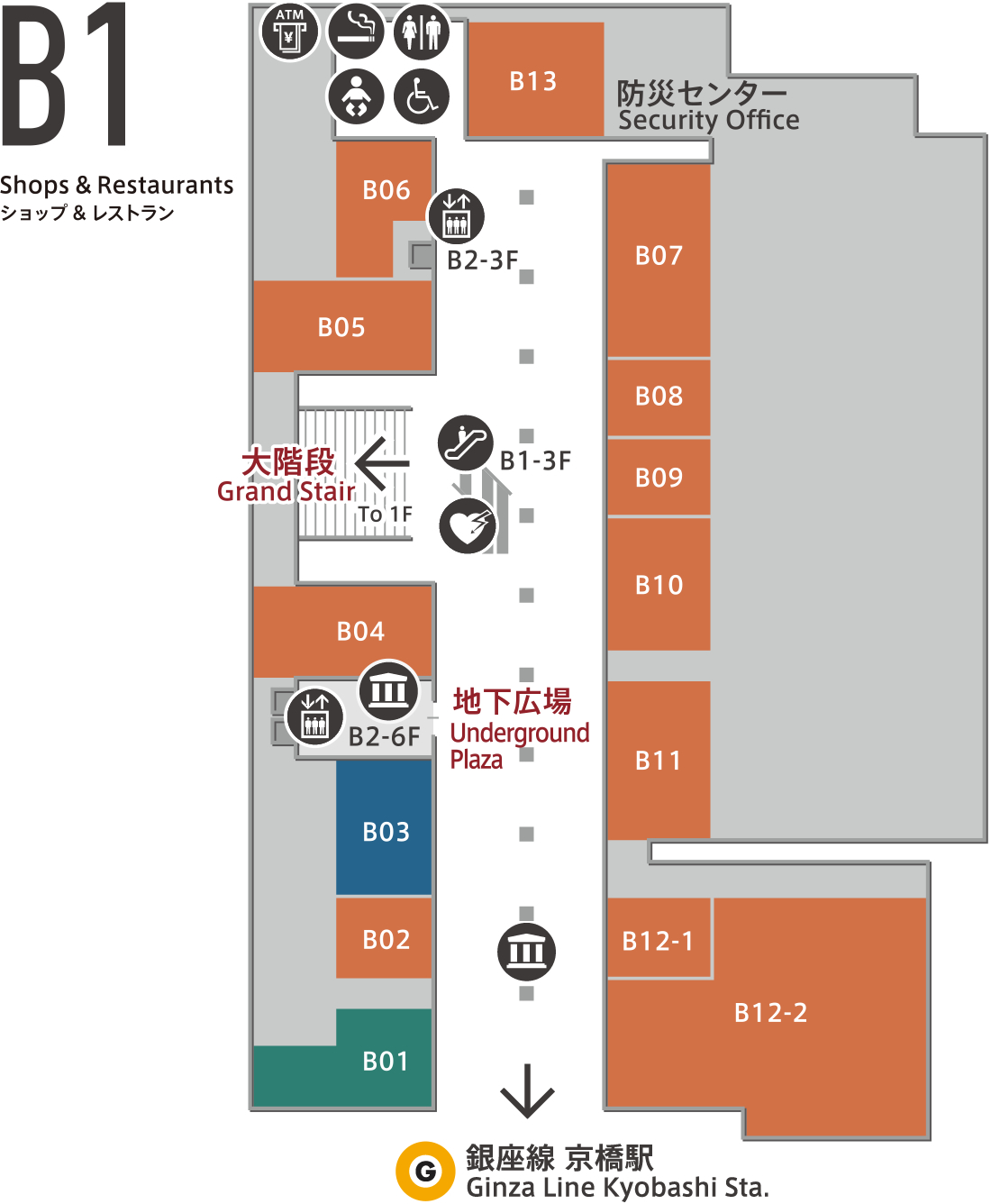Footer Site Map: フロアマップ